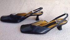 "BCBG Maxazria Italian Black V-foot Slingback Shoes Size 5 38 BC BG 1.75"" Heel"