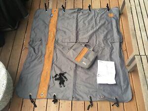 Kurgo Wander Dog Hammock & Seat Cover Charcoal Gray/Orange 55x56 Used Excellent