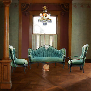 Nic Nichols - Victorian Settee & Pair Chairs - IGMA Fellow Miniatures 1:12 scale