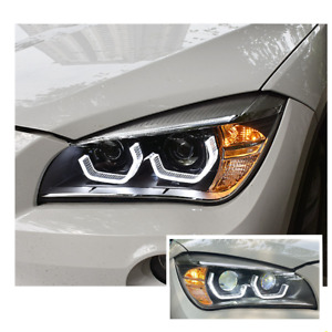 For BMW X1 LED Headlights LED DRL 2011-2019 Replace OEM Halogen Sequential