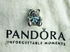 "Authentic Pandora ""It's A Boy"" Teddy Bear 791124EN41 Sterling Silver Charm"