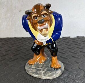 Vintage Disney Store Beauty And The Beast Beast Ceramic Figurine