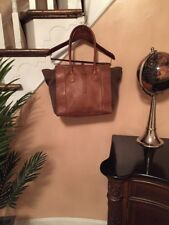 "Authentic Jack Rogers Stowe Oak brown Leather Tote Handbag ""Excellent"