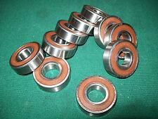 "10 Bearings 6203-2Rs .66"" 17mm Id, 1.57"" 40mm Od, .47"" 12mm Alternator Generator"