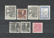 Q6984 - SVEZIA - 1951 - LOTTO USATI DIFFERENTI - VEDI FOTO