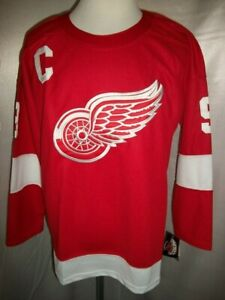 """Gordie Howe Detroit Red Wings Red & White """"1987-2007 Throwback"""" CCM NHL Jersey"""