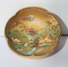 Antique Japanese Meiji Period Satsuma Scenic Bowl