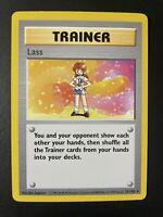 Pokemon SHADOWLESS Base Set RARE Lass 75/102 NM/M 1999 Vintage WOTC PSA Ready