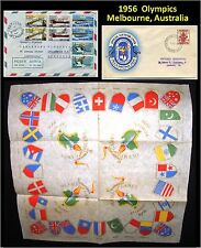 3 items Australia 1956 Olympics Melbourne & 1956 Winter Olympics Cortina (E)