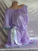 VTG SILKY FRILLY SISSY LACY ROMPER JUMPER JUMPSUIT BABY NIGHTY GOWN SUIT 2X 58