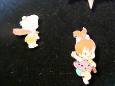 Bam Bam and Pebbles Flintstone Pins