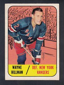 1967-68 TOPPS HOCKEY CARD #22 W. HILLMAN