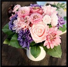 Artificial Rose Peony Silk Flower Bouquet Home Floral Wedding Party Garden Decor