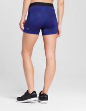 NWT Women's c9 Champion Honeycomb Printed Compression Shorts Blue/ Black Size XS