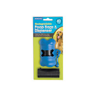 Ancol Dog Puppy Biodegradable Poop Bags Dispenser 40 Refill Poo Bags Waste Rolls