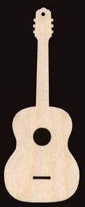 Guitar Shape Unfinished Craft Wood Cutout #566-5