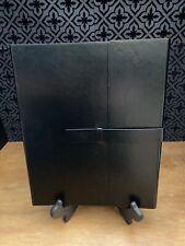 Gallaway Black Leather Padfolio Resume Folder Business Portfolio For 85x11 Pad
