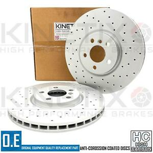 FOR MINI COOPER S F56 CROSS DRILLED FRONT PERFORMANCE BRAKE DISCS PAIR 335mm