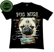 Wild Glow In The Dark T Shirt Pug Dog Photo Pets Nature Funny