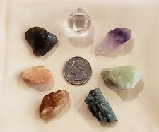 Awesome Chakra set of 7 Rough Natural Stones +  bag Powerful Healing Hand Picked