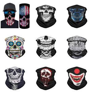 9pcs Set Skull Bandanas for Men Women Face Neck Tube Scarf Headband Balaclavas