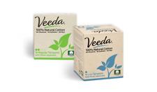 Veeda Natural Cotton Tampons, Lite, Regular, Compact Applicator, 1 Box Each