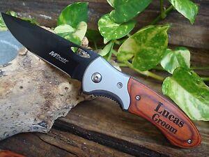 (1) Personalized Knife, Custom, Manual Folding Knife ,Dad Groomsman Knives 412