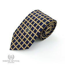 Handmade Masonic Necktie [Lattice by Masonic Revival]