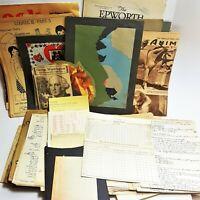 200+ 1920s Colorado State Teachers College Ephemera - Notes Lessons Prints Cards