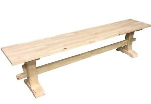 Unfinished Trestle Bench/Pedestal Bench