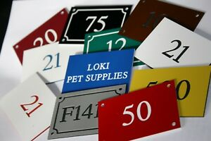 Engraved House number sign Acrylic Plaque 75mm x 50mm various colour optionen