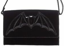 Iron Fist Night Stalker Clutch Bag Bat Wings Black Punk Rock Goth Purse Skull
