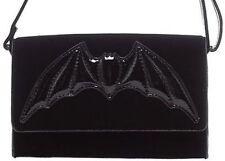 Iron Fist Night Stalker Clutch Bag Bat Wings Black Punk Rock Goth Purse Skull
