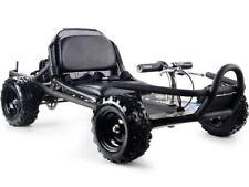 49cc Gas Go Kart 2 Cycle MotoTec Sandman MT-GK-10_Black 8in Knobby Tires