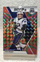 2020 Panini Mosaic Tom Brady Green Reactive Prizm MVPs New England Patriots #298