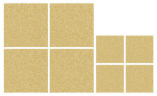 ISTYLE Faux Leather Placemats and Coasters Set of 4 Gold Xmas Glitter Sparkle