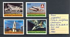 CENTRAFRICAIN 1981 4 x STAMP IMPERFORATED ** MNH VF = SPACE SUTTLE APOLLO =