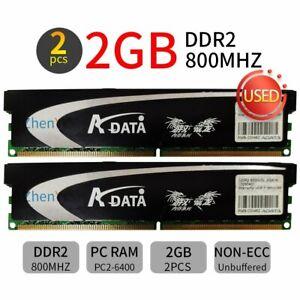 4GB 2x 2GB DDR2 800mhz 240Pin Desktop DIMM overclocking Memory OC RAM ADATA BT