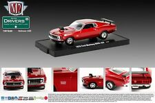 M2 MACHINE 1:64 SCALE DIECAST METAL CANDY APPLE RED 1970 FORD MUSTANG BOSS 429