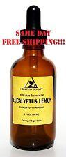 EUCALYPTUS LEMON ESSENTIAL OIL by H&B Oils Center AROMA GLASS DROPPER 2 OZ 59 ml
