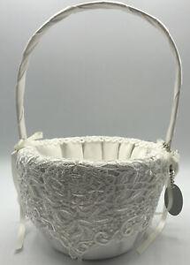 Ivy Lane Design A01045FB Ivory Vintage Flower Girl Basket New