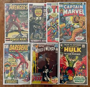 Silver age & Bronze Age comic lot Fair to Avery Good condition