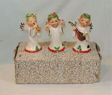Vintage Josef Originals Angel Musician Figurines Set of 3 with Original Box