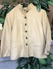 Lauren Ralph Lauren Women's Blazer Tan 100% Linen Button Jacket Sz. 4 Solid