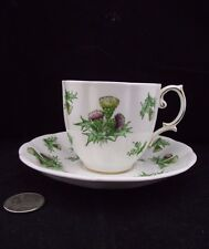 ROYAL ALBERT HIGHLAND THISTLE PATTERN CABINET TEA CUP AND SAUCER