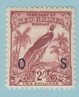 NEW GUINEA O34 OFFICIAL MINT NEVER HINGED OG ** NO FAULTS EXTRA FINE !
