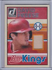 DAVID FREESE 2014 Donruss Bat Kings Game Bat #36 (B7257)