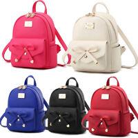 New Fashion Women Ladies Leather Backpack Travel Handbag Shoulder Bag Lot