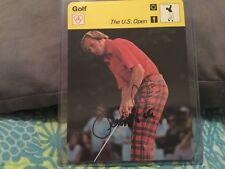 JERRY PATE SIGNED 1978 SPORTSCASTER CARD/ GOLFER 1976 U.S. OPEN WINNER