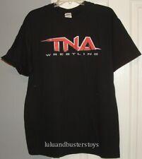TNA Impact Wrestling LOGO Black Large T-Shirt Gildan Shirt Red Brand New